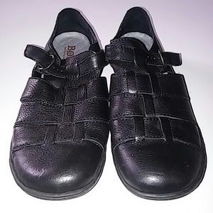 Born black leather loafers